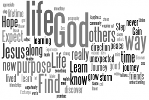 Wordle of key reasons to embark on the Disciple's Way